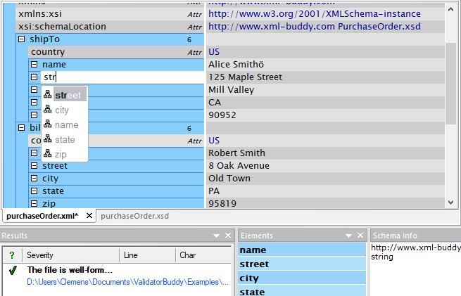 XML validator and editor for Windows