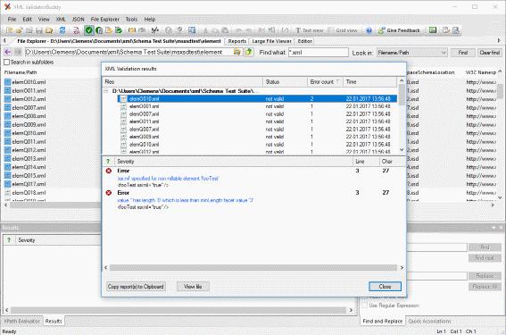 XML editor and validator tool