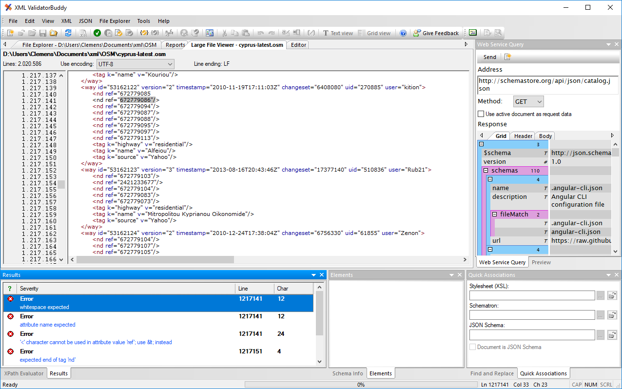 Freeware xml validating parser