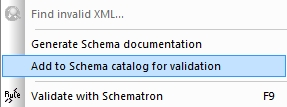 add to xml catalog command