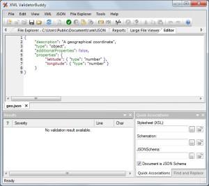 GeoJSON schema in editor