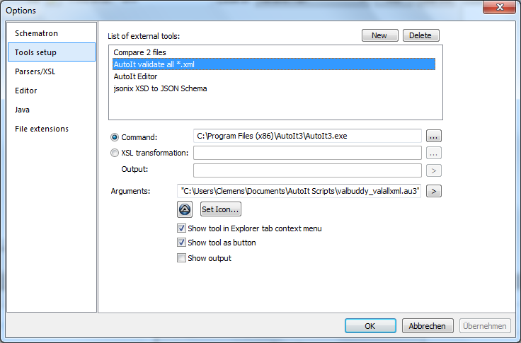 XML validator called by AutoIt
