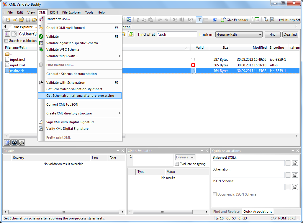 Get Schematron pre-processed intermediate schema