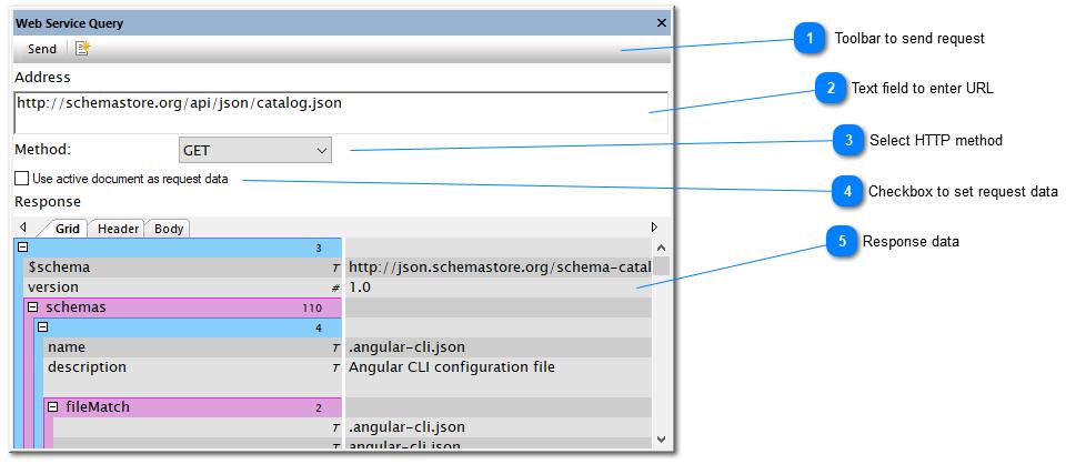 Web Service Query window